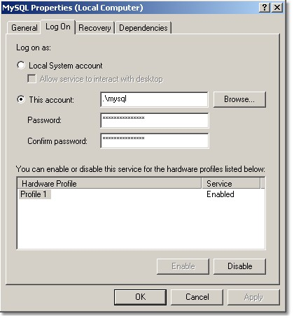 MySQL Server Installation on Windows